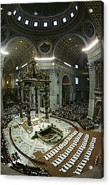 Candidates For Priesthood Lie Prostrate Acrylic Print by James L. Stanfield