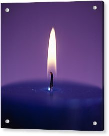 Candle Flame Acrylic Print by Cristina Pedrazzini