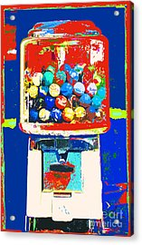 Candy Machine Pop Art Acrylic Print by ArtyZen Kids