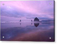 Cannon Beach Reflections Acrylic Print by Dan Mihai