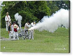 Cannon Fire Acrylic Print by JT Lewis