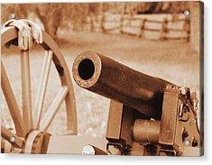 Cannon Ready Acrylic Print by Jonathan Bateman