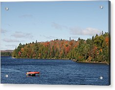 Canoe Ride Acrylic Print by Peter Clemence