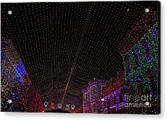 Canopy Of Lights Acrylic Print by Ronnie Glover