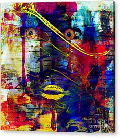 Can't Even Begin To Tell It Acrylic Print by Fania Simon