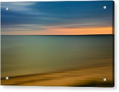 Cape Cod Sunset- Abstract  Acrylic Print by Thomas Schoeller