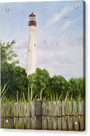 Cape May Lighthouse Acrylic Print by Margie Perry