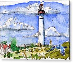 Cape May Lighthouse Study Acrylic Print by John D Benson