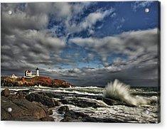 Cape Neddick Lighthouse Acrylic Print by Rick Berk