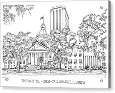 Capitol 2002 Tallahassee Acrylic Print by Audrey Peaty