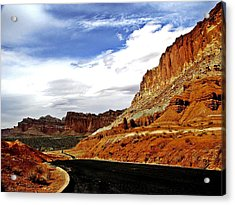 Capitol Freemont Road Acrylic Print by Laura Shields