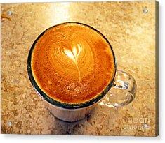 Cappuccino Everyone Wants Acrylic Print by Ausra Huntington nee Paulauskaite