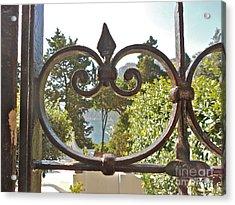 Capri Through Gate Acrylic Print by Italian Art