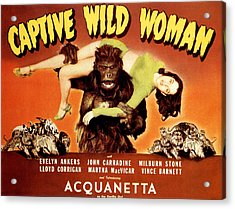 Captive Wild Woman, Ray Crash Corrigan Acrylic Print by Everett