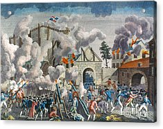 Capture Of Bastille, 1789 Acrylic Print by Granger