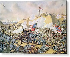Capture Of Fort Fisher 15th January 1865 Acrylic Print by American School