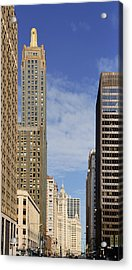 Carbide And Carbon And Wrigley Building - Two Chicago Classics Acrylic Print by Christine Till