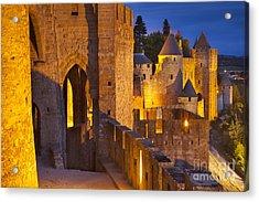 Carcassonne Ramparts Acrylic Print by Brian Jannsen