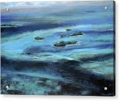 Caribbean Blue Acrylic Print by Tom Smith