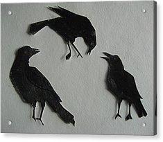 Carl's Crows Acrylic Print by Betty Pieper