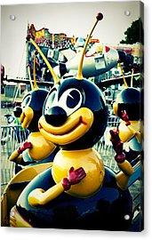 Carnival Bee Acrylic Print by Sonja Quintero