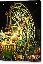 Carnival Ferris Wheel Acrylic Print by Gregory Dyer