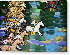Carnival Horse Race Game Acrylic Print by Garry Gay