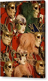 Carnival Masks For Sale Acrylic Print by Jim Richardson