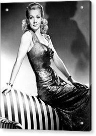 Carole Landis, Publicity Shot, Ca. 1943 Acrylic Print by Everett