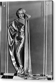 Carole Lombard, In A Paramount Acrylic Print by Everett
