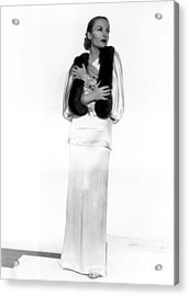 Carole Lombard, Portrait Acrylic Print by Everett