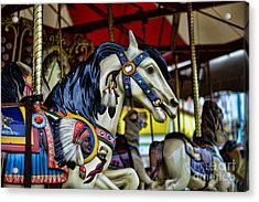 Carousel Horse 6 Acrylic Print by Paul Ward