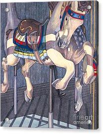 Carousel Horse Acrylic Print by Linda Wells
