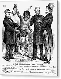 Cartoon: Native Americans, 1876 Acrylic Print by Granger