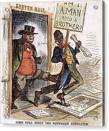 Cartoon: Slavery, 1861 Acrylic Print by Granger