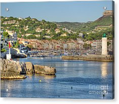 Cassis - Harbour And Lighthouse 2 Acrylic Print by Rod Jones