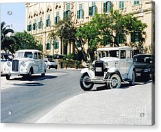 Castille Square Acrylic Print by John Chatterley
