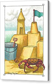 Castle In The Sand Acrylic Print by Terry Taylor