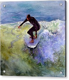 Catch A Wave Acrylic Print by Bonnie Rinier
