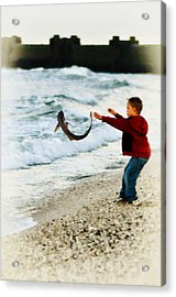 Catch And Release Acrylic Print by Bill Cannon