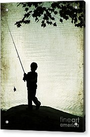 Catching Leaves Acrylic Print by Darren Fisher