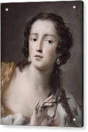 Caterina Sagredo Barbarigo As 'bernice' Acrylic Print by Rosalba Giovanna Carriera