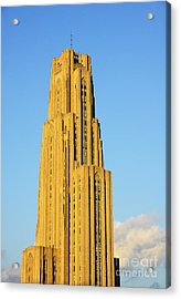 Cathedral Of Learning In Evening Light Acrylic Print by Thomas R Fletcher