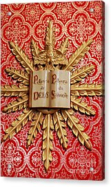 Catholic Church Decorations Acrylic Print by Gaspar Avila