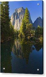 Cathredal Rocks Reflection Acrylic Print by Joe Darin