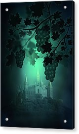 Catle And Grapes Acrylic Print by Svetlana Sewell