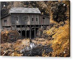 Cedar Creek Grist Mill Acrylic Print by Steve McKinzie
