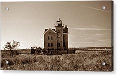 Cedar Island Lighthouse Acrylic Print by Skip Willits