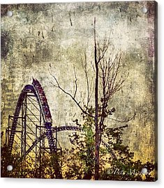 #cedarpoint #rollercoaster #ohio Acrylic Print by Pete Michaud