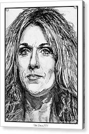 Celine Dion In 2008 Acrylic Print by J McCombie